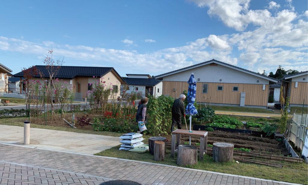 大熊町大川原地区公共空間デザイン 菜園を利用する住民