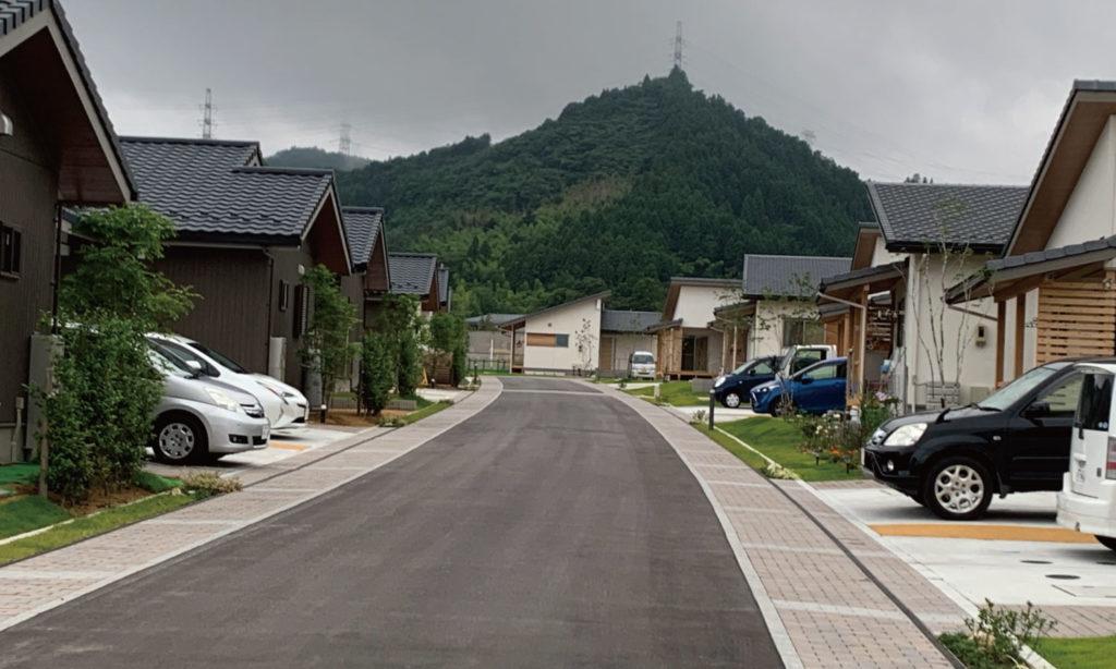 大熊町大川原地区公共空間デザイン 自動車の動線となる街路