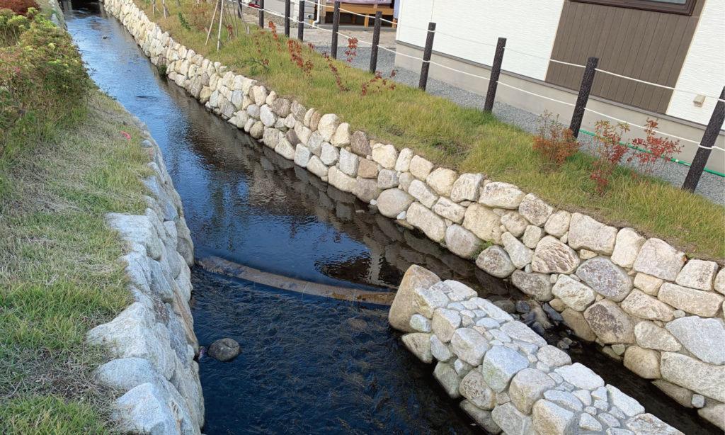 大熊町大川原地区公共空間デザイン 水路